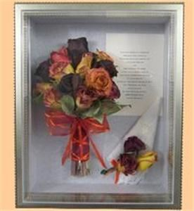 The Country Thyme Shoppe, Hanson — Have you wedding bouquet preserved and arranged in a shadowbox.