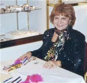 "The Handwriting Detective, Hartford — Carol (""the Handwriting Detective"" entertains with graphology at a recent event in Connecticut"