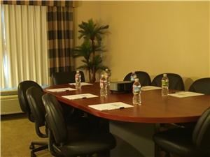 Boardroom, Holiday Inn Express, Garden Grove — Boardroom setup for 10 peopled. 