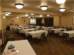 Santa Anna Hall, Holiday Inn Express, Garden Grove — Classroom style setup. 