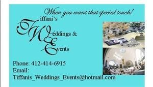 Tiffani's Weddings and Events - Pittsburgh, Pittsburgh — Tiffani's Weddings and Events 