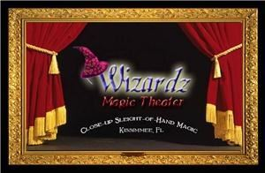 Wizardz Magic Theater Magic Show, Kissimmee — Wizardz Magic Theater Showcases the finest magicians From around the globe every Monday night find out how your group can have their event at Wizardz