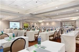 Golden Gate Ballroom, Hilton Sonoma Wine Country, Santa Rosa — Our Golden Gate Ballroom is perfect for your large offsite meetings and can be dressed up for a reception or mixer as well, with space allowing for many different set up configurations.