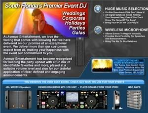 Avenue Entertainment, Port Saint Lucie — No cheesy hairy chested DJs here! Avenue Entertainment supplies a fabulous female DJ who can turn parties into memorable occasions. State of the art Denon & JBL equip pumps out music w/instant downloads of favorite songs if missing from our library.
