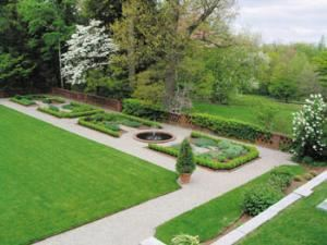 Terrace and Formal Gardens, The Eleanor Cabot Bradley Estate, Canton