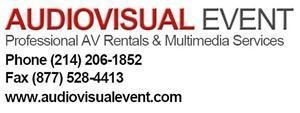Audiovisual Event, Dallas — Dallas AV rental company providing audio visual rentals and event services for business meetings, conventions, trade shows, and special events.