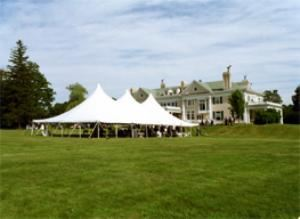 Grounds, The Endicott Estate, Dedham — Tented grounds may be an option for parties with over 200 guests