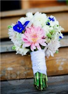 Snapdragon Studio, Vancouver — Mixed garden bouquet featuring dahlias, iris, roses, snapdragon, and hydrangea. Photo by Tumble Bumble Photography.