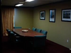 Board Room, Plaza Hotel Carowinds, Fort Mill — The Board Room is effective for small gatherings that may need the change from an everyday setting with privacy and functionality.