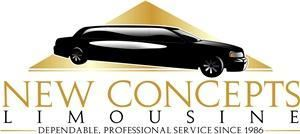 New Concepts Limousine, Hazlet — Dependable, professional service for 23 years. Weddings, Proms, Airports, Night on the Town. Stretch Limousines, Vans, sedans. Corporate Accounts Welcome. We accept American Express, Visa, Mastercard, Discover, Cash.