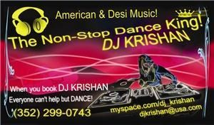 DJ KRISHAN - Gainesville, Gainesville — DJ KRISHAN - 7+ years experience. 