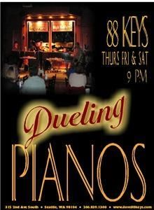 88 Keys Dueling Pianos & Sports Bar, Seattle — All genre, all request dueling piano show!  Located in Seattle and available to travel to your location*.