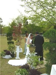 Heaven Sent Wedding Chapel, Gaston — When weather permits, the outdoor wedding is a beautiful choice.