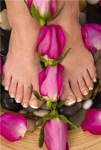 Azure Nail Studio, Scottsdale — Sculptured Pink & White Acrylic Toes are the perfect choice for the beach, pool or any vaction.  They last 6-8 weeks and look amazing!