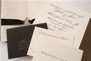 Calligraphy By Nan DeLuca, New York — Invitation suite done for Modern Letterpress client