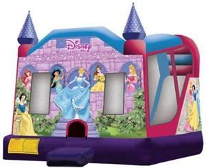 TATA BOUNCERS RENTALS, Colton — Extra Large Disney Princess 4 in 1 Combo Wet/Dry