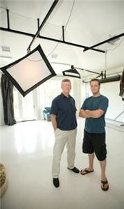 Creative Photo, Columbia — Owners Carl and Marvin Neitzert in the studio.