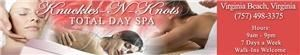 Knuckles 'N' Knots Total Day Spa, Virginia Beach — We r an established business, Always $40 an hour massage with no extra charges ever.  Can do any technique with no extra $ added on.  Never have to sign a contract to receive the great price.  Find us on facebook for daily discounts. We are open 9am-9pm everyday with walk in's welcome.  Gift certificates available for any $ amount or specific service.  We are the #1 provider for the military PRT wrap (pass your PRT today) Look forward to working with you soon.