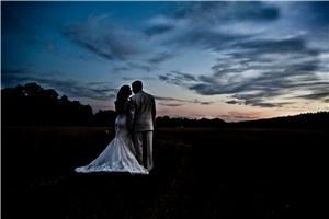 kansas pitts photography, Santa Rosa Beach — Luz & Ryan got married at the Beau Chene Ranch and the sunset was amazing-we snuck away and took some breathtaking images of them in the field!