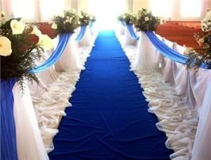 Simple to Extravagant Weddings - Blue Ridge, Blue Ridge — This is an aisle I did for a military wedding.