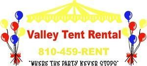 Valley Tent Rental, Holly — Valley Tent Rental has been in the party planning Industry for 10 plus years servicing Oakland, Genesee, and Lapeer counties. We are committed to making your party planning easy and affordable. Our mission is to make planning your graduation, wedding, reunion, or family/work event everything you were wishing for with no hassle. We ensure our equipment to be on time and clean, and our service is friendly and reliable. 