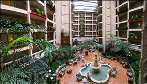 Embassy Suites Airport, Minneapolis — The Atrium located inside the Embassy Suites Bloomington