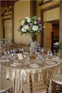 pamela d'orsi ryan events, Jamestown — beautiful linens, letterpress custom menus and a lush floral design accents the grande ballroom....