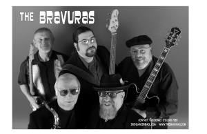 "THE BRAVURAS BAND, Buffalo — The Bravuras are made up of Western New Yorkers who are extremely dedicated to their craft. Headed by John ""J. Bones"" Puccio, the Bravuras bring their unique touch to blues Along with playing original songs, you'll find the Bravuras covering the likes of Leadbelly, Bo Diddley, Albert King, Albert Collins, Howlin' Wolf, Jimmy Reed, and Willie Dixon, just to name a few. This is the kind of music that blues players and aficionados respect and adore.