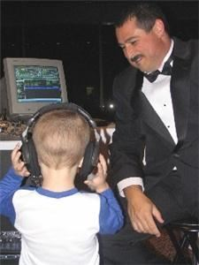 Aspire Entertainment, Tomball — Always willing to train the bride's son to be a DJ.