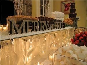 Gourmet Delights Catering Inc., Hamilton — Chocolate fountain display Chistmas 2009
