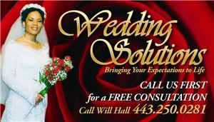 Wedding Solutions, Baltimore — We are a full service event company who can handle all your planning and decorating needs.