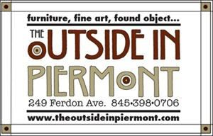 The OUTSIDE IN PIERMONT, Piermont — The OUTSIDE IN Piermont specializes in  uncommon handcrafted  works for the inside and out including furniture, lighting, fine art and craft, found objects and more by Hudson Valley artists .
