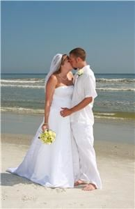 "Complete Beach Weddings, Saint Augustine — Complete Beach Weddings will make your Florida beach wedding a reality. Complete Beach Wedding Packages are available in the St. Augustine, Jacksonville, and surrounding areas.  Complete Beach Weddings offers all-inclusive beach wedding packages include:  Ceremony decorations, fresh flower bouquets, music, photography, and more.  Complete Beach weddings will make your beach wedding celebration ""completely"" affordable and unique!  Looking for a beach wedding company that will offer you more personal choices?  Contact Complete Beach Weddings today!"