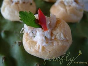 Firefly Fine Catering, Valley Ford — Spicy Dungeness Crab Gougere