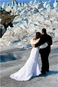 Alaska Weddings On Ice LLC, Auke Bay — Helicopter Glacier wedding ceremony on the Mendenhall Glacier, Summer 2009.