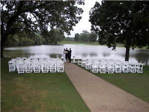 Wedding Ceremony Areas, St Andrews Golf & Country Club, West Chicago — Outdoor option includes:chairs, up to 200, Set-up and Clean-up; 6-seat golf cart with staff member to aid guests who need help reaching the ceremony area; electrical outlet available for DJ Sound System and Microphone