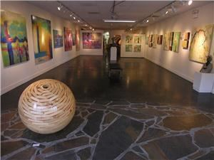 Bonner David Galleries, Scottsdale — Photo features Contemporary side of the art gallery. This space is over 1,800 sq ft. Art exhibitions change monthly.