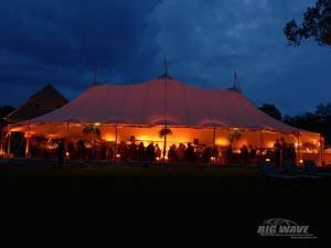 Big Wave Event Productions, LLC, Roxbury — Tent with amber wash at the Mayflower Inn & Spa