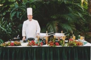 Subway Cafe, Naples Zoo At Caribbean Gardens, Naples — Chef at a serving table.