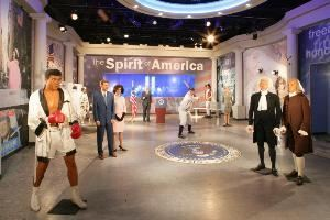 Spirit Of America Room, Madame Tussauds, Las Vegas — Madame Tussauds is pleased to present the Spirit of America experience. Complete with fully integrated sound and a 6 X 2 video cube wall, the room offers your guests the opportunity to mingle with some of the world's most poignant historical figures in an interactive, multi-media setting.