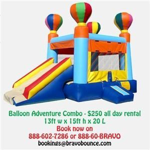 Bravo Bounce Inflatables & Party Rentals, Bear — Bravo Bounce Inflatables & Party Rentals - MoonBounces, Combo bounces, waterslides, outdoor movies, gaming parties, photo booths, tables, tents and chairs for back yard parties and lots, lots more. 