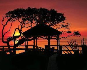 Plantation Ballroom Conference Center, Villas By The Sea Resort And Conference Center, Jekyll Island — Oceanside Gazebo at sunset