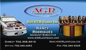 AGR Las Vegas, Las Vegas — Contact AGR Las Vegas for Games, Casino Nights, NASCAR Simulators, and all your event needs.