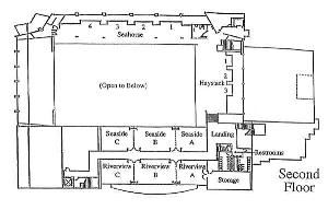 Seahorse B, Seaside Civic & Convention Center, Seaside — Second Floor Plan