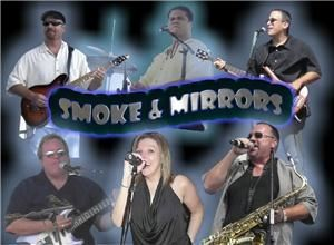 Smoke & Mirrors Band, Marlboro — Smoke & Mirrors Band is the definitive Jersey Shore party band. We are six professional musicians who take the music seriously but know how to have a great time. We know how to engage the audience; and at most of the venues we play we're considered the favorite band by the employees! We get the party started quickly - we'll have your crowd dancing by the third song! Bring the energy and magic of Smoke & Mirrors to your event or affair!