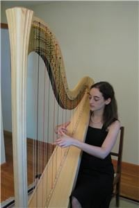 Silver Wings Music (harpist and flutist), Austin — Pedal harp