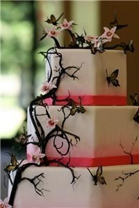 Da Bombe Desserts, Santa Rosa — Pulled Sugar branches and gumpaste butterflies and orchids