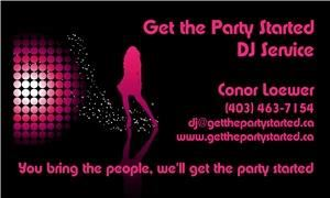 Get the Party Started - Red Deer, Red Deer — Get the Party Started DJ Service serves Calgary and Southern Alberta and guarantees to get your party started! If you're throwing a wedding reception, we have the right set up to get your party moving. We believe that creating the right ambience is key; so we offer digital music mixed live along with a complimentary full lighting package with each booking consisting of: intelligent lighting, laser light show, fog machine, and disco ball.