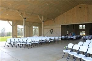 Entire Facility, Chattooga Belle Farm, Long Creek — The large covered patio area is the perfect spot for an outdoor ceremony.