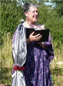 Reverend Barbara Gilday, Bellingham — This is one of many outfits I wear, according to the colors, style and wishes of the couple.
